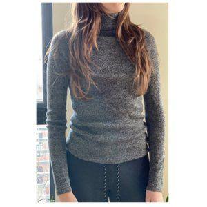 Women's Turtleneck Sweater - Grey Marled